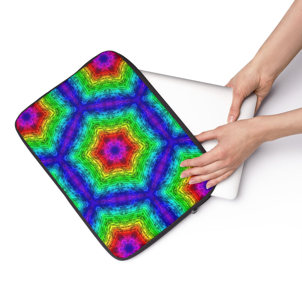Rainbow Geometric Laptop Sleeve