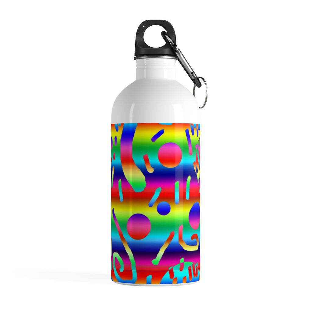 Rainbow Confetti Stainless Steel Water Bottle