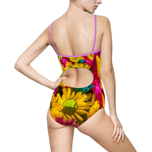 Bright daisy Bouquet Women's One-piece Swimsuit