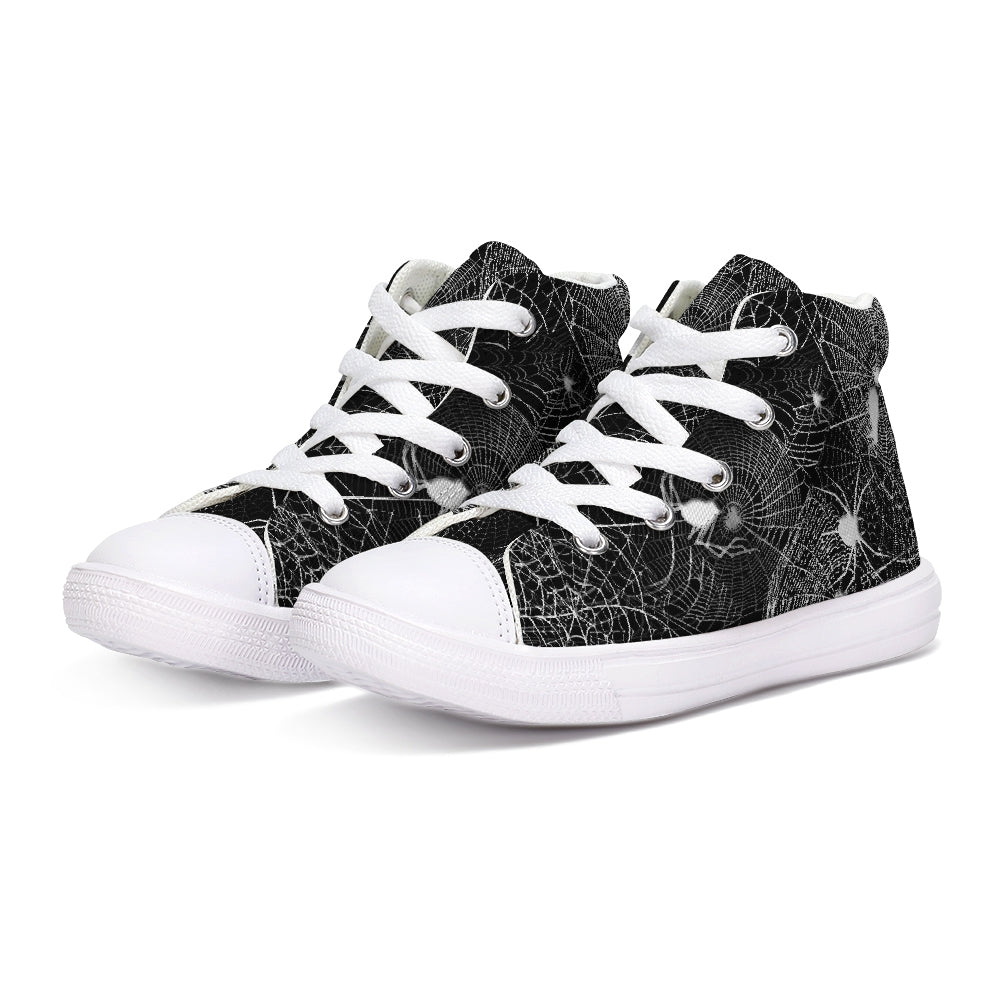 Spider Webs Kids Hightop Canvas Shoe