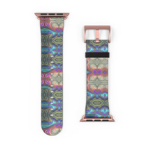 Mystic Blue With Pink Watch Band