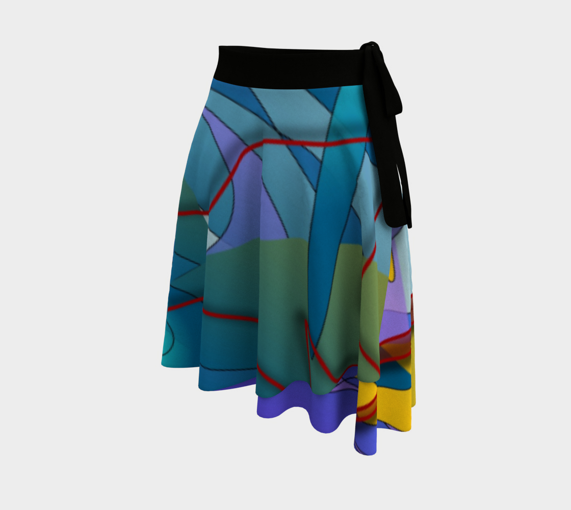 Geometry Collage Wrap Skirt