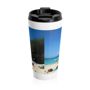 Day At The Beach Stainless Steel Travel Mug