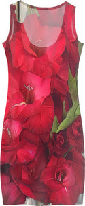 Red Gladiolas Dress