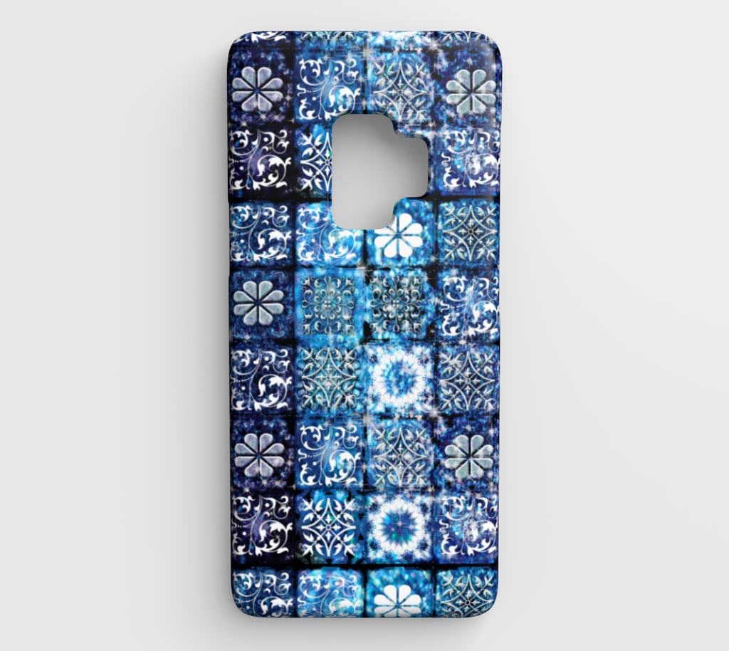 Blue Ice Crystals Galaxy S9 Case