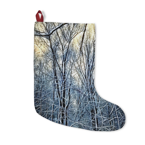 4 oclock Winter Landscape Christmas Stockings