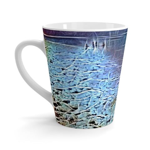 Abstract at The Dead Sea Latte mug