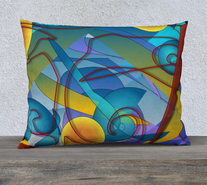 Geometry Collage Velveteen Pillow Sham