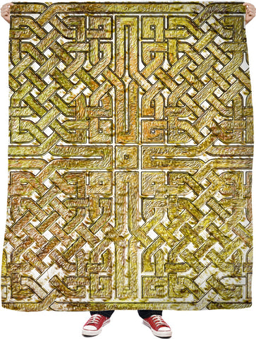 Gold Celtic Knot Blanket