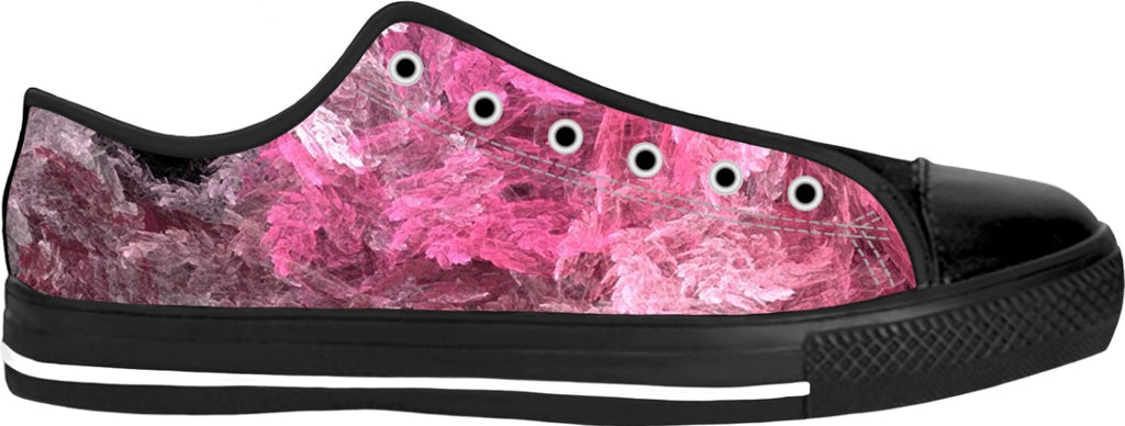 Pink Crystal Fractal Low Top Shoes