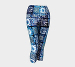 Blue Ice Crystals Yoga Capris
