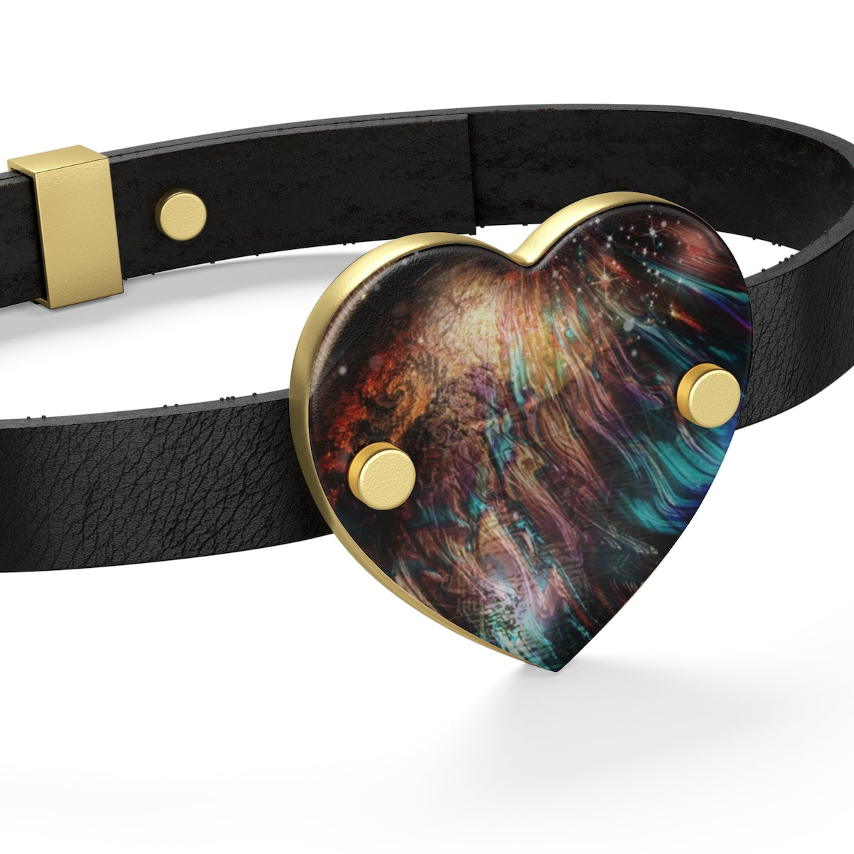When Solar Flares Meet Singularities Leather Bracelet