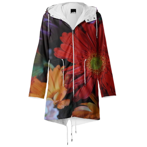 Mixed Flowers Raincoat
