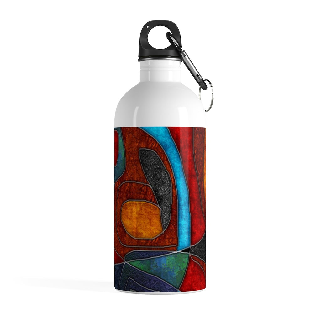 Abstract With Heart Stainless Steel Water Bottle - expressive-flower-art-goods.myshopify.com