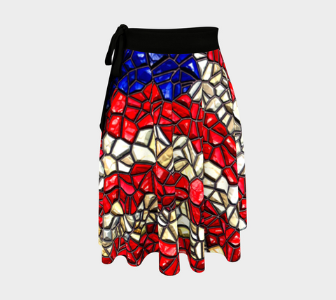 American Flag Mosaic Wrap Skirt
