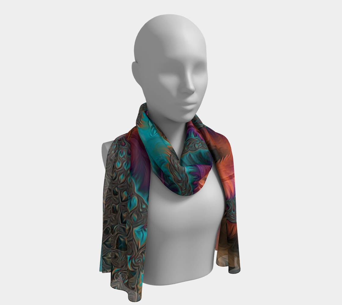 Southwest Fractal Long Scarf