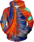 Red Blue Orange Tiedye Hoodie