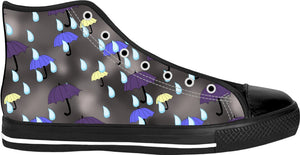 Rain and Umbrellas Pattern High Tops