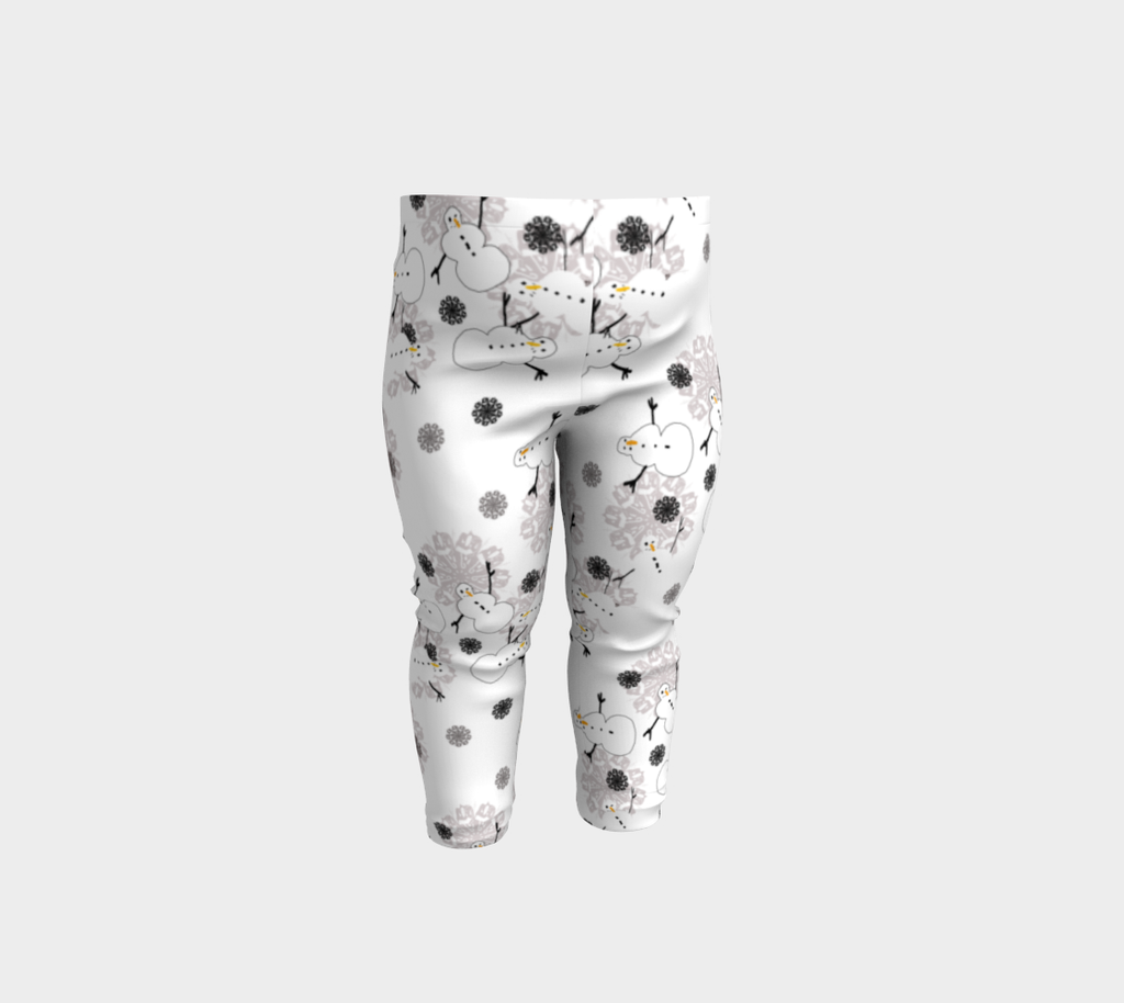 Snowman Pattern Baby Leggings