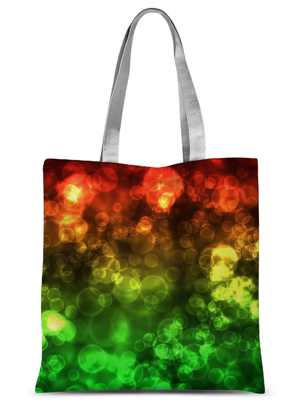 Red Green Bokeh Sublimation Tote Bag - expressive-flower-art-goods.myshopify.com
