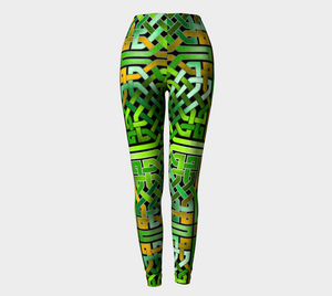 Green Irish Celtic Knot Leggings