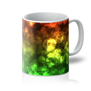 Red Green Bokeh Mug - expressive-flower-art-goods.myshopify.com