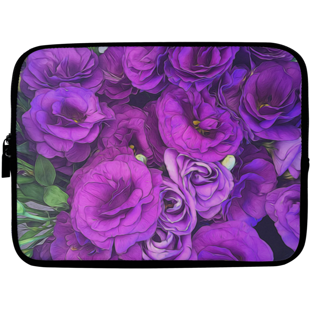 Purple Lisianthus Laptop Sleeve - 10 inch
