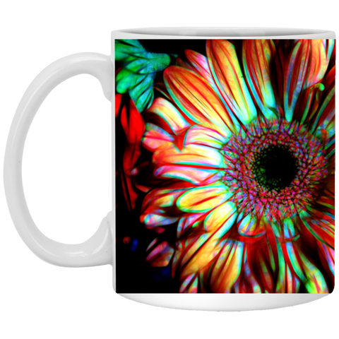 Flowers 133a  11 oz. White Mug