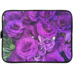 Purple Lisianthus Laptop Sleeve - 15 Inch