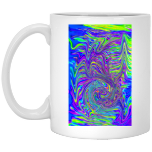 Abstract With Blue P8434 11 oz. White Mug