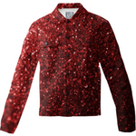 Red Glitter Photograph Twill Jacket - expressive-flower-art-goods.myshopify.com