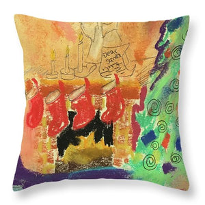 A Child's Christmas Eve - Throw Pillow - expressive-flower-art-goods.myshopify.com