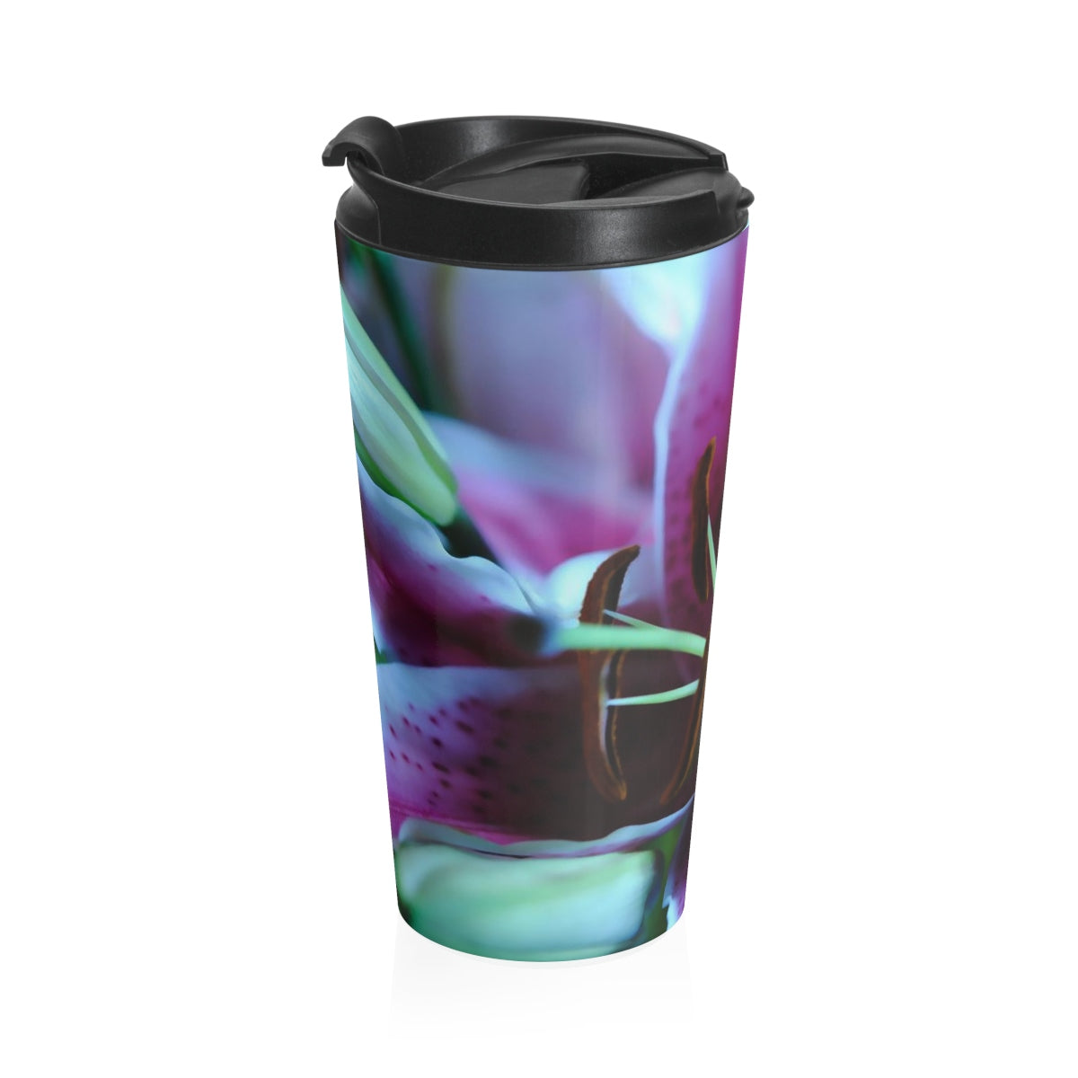 Flower 32 Stainless Steel Travel Mug - expressive-flower-art-goods.myshopify.com