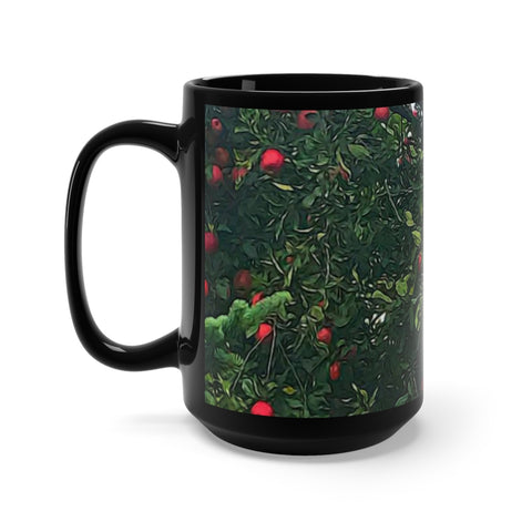 Apple Tree Black Mug 15oz