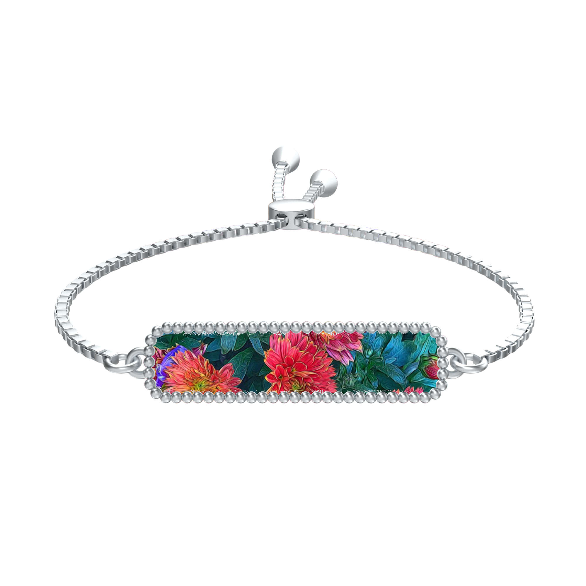 Warm Fall Mums in Pink Bracelet
