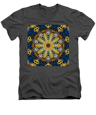 Abstract Daisies Kaleidoscope - Men's V-Neck T-Shirt