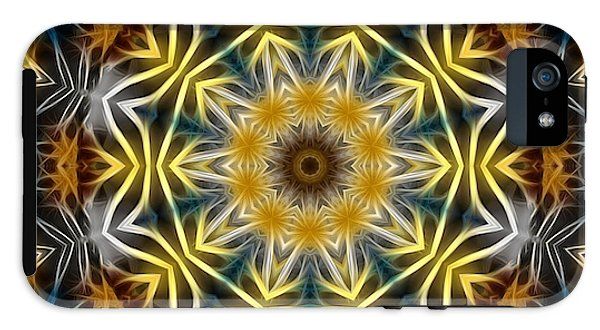 Abstract Daisies Kaleidoscope - Phone Case