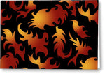 Abstract Flames Pattern - Greeting Card