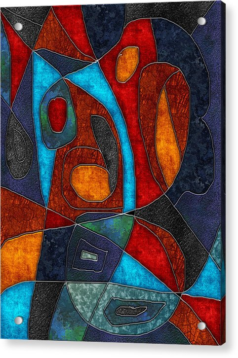 Abstract With Heart - Acrylic Print - expressive-flower-art-goods.myshopify.com
