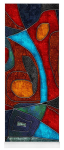 Abstract With Heart - Yoga Mat
