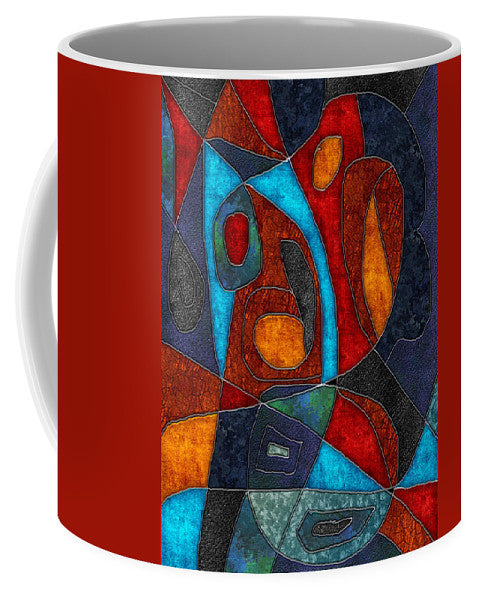 Abstract With Heart - Mug - expressive-flower-art-goods.myshopify.com