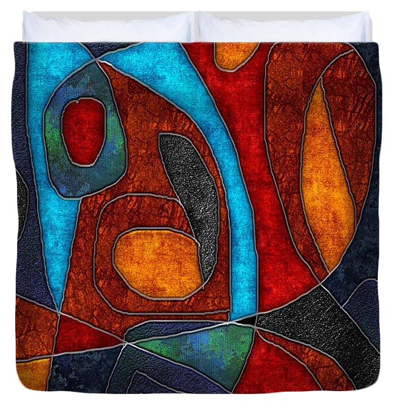 Abstract With Heart - Duvet Cover