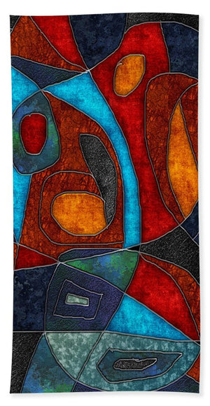 Abstract With Heart - Bath Towel