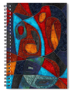 Abstract With Heart - Spiral Notebook