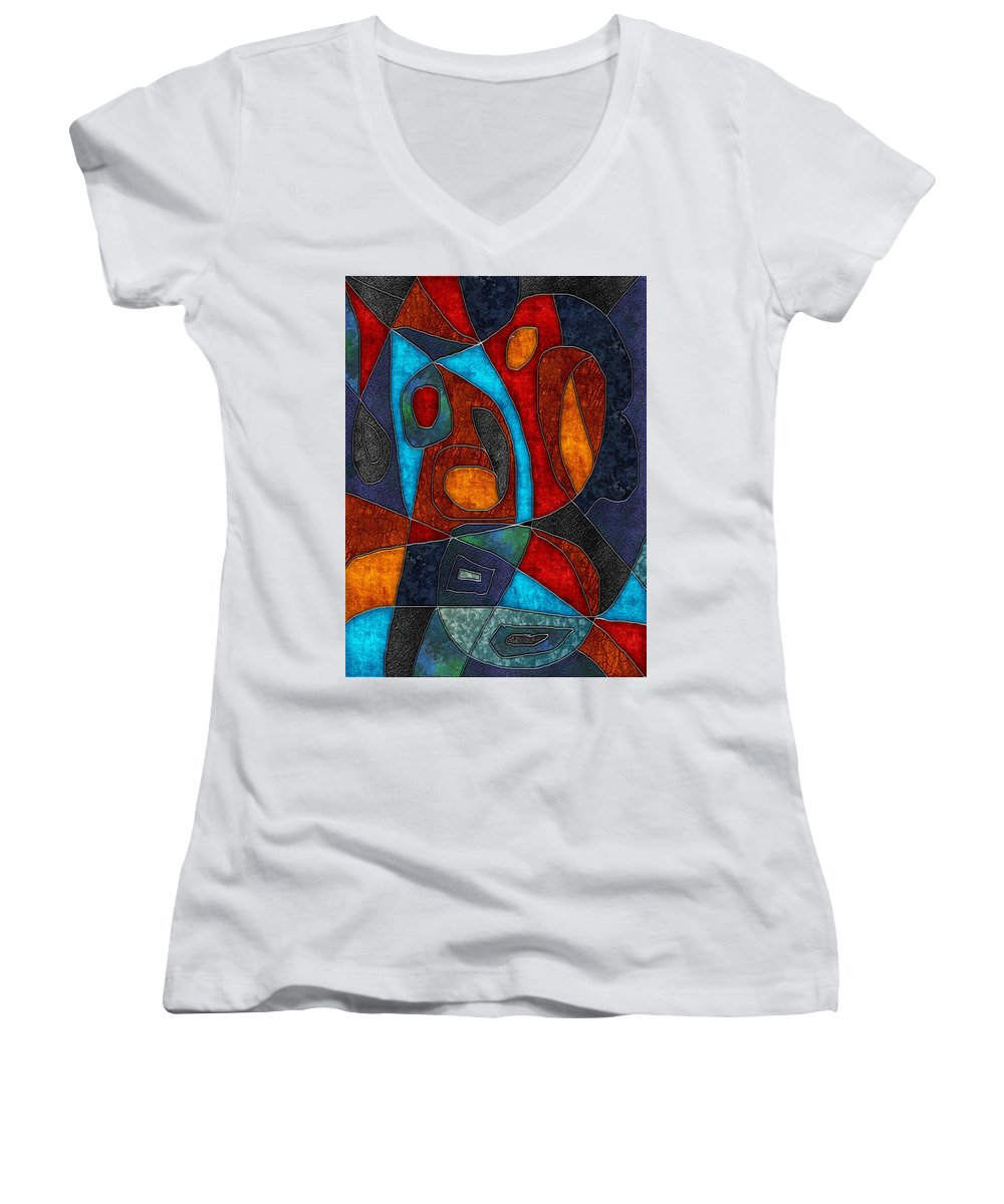 Abstract With Heart - Women's V-Neck