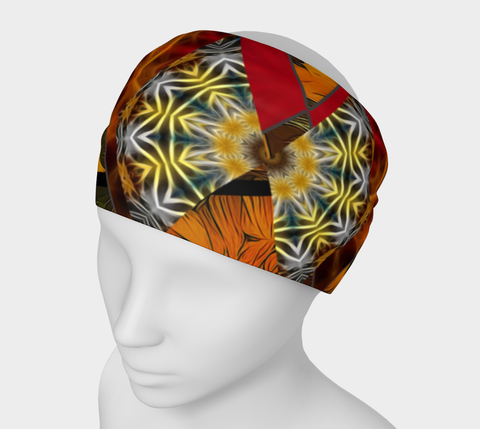 Sunflower Collage Headband