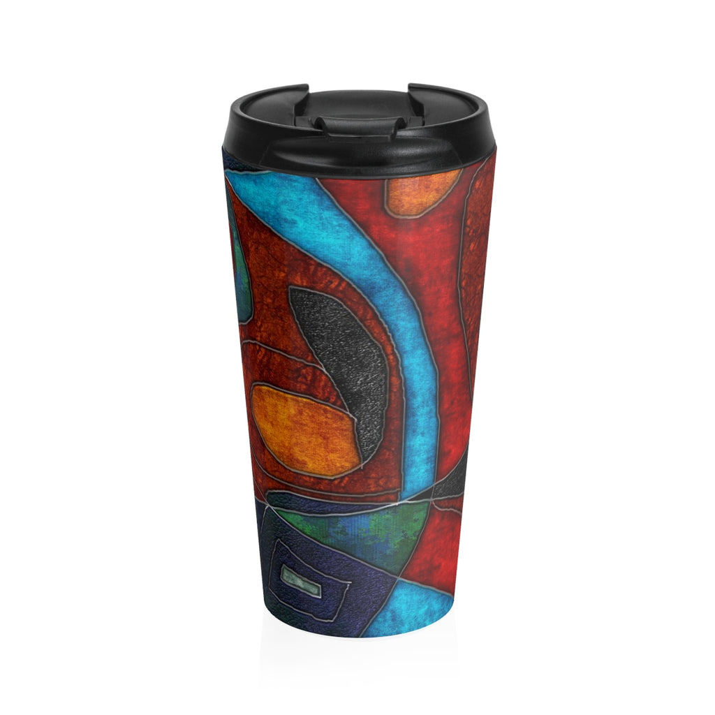 Abstract With Heart Stainless Steel Travel Mug - expressive-flower-art-goods.myshopify.com