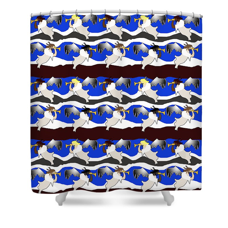 Angels Pattern - Shower Curtain
