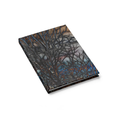 Abstract Sunset Tree Journal - Blank