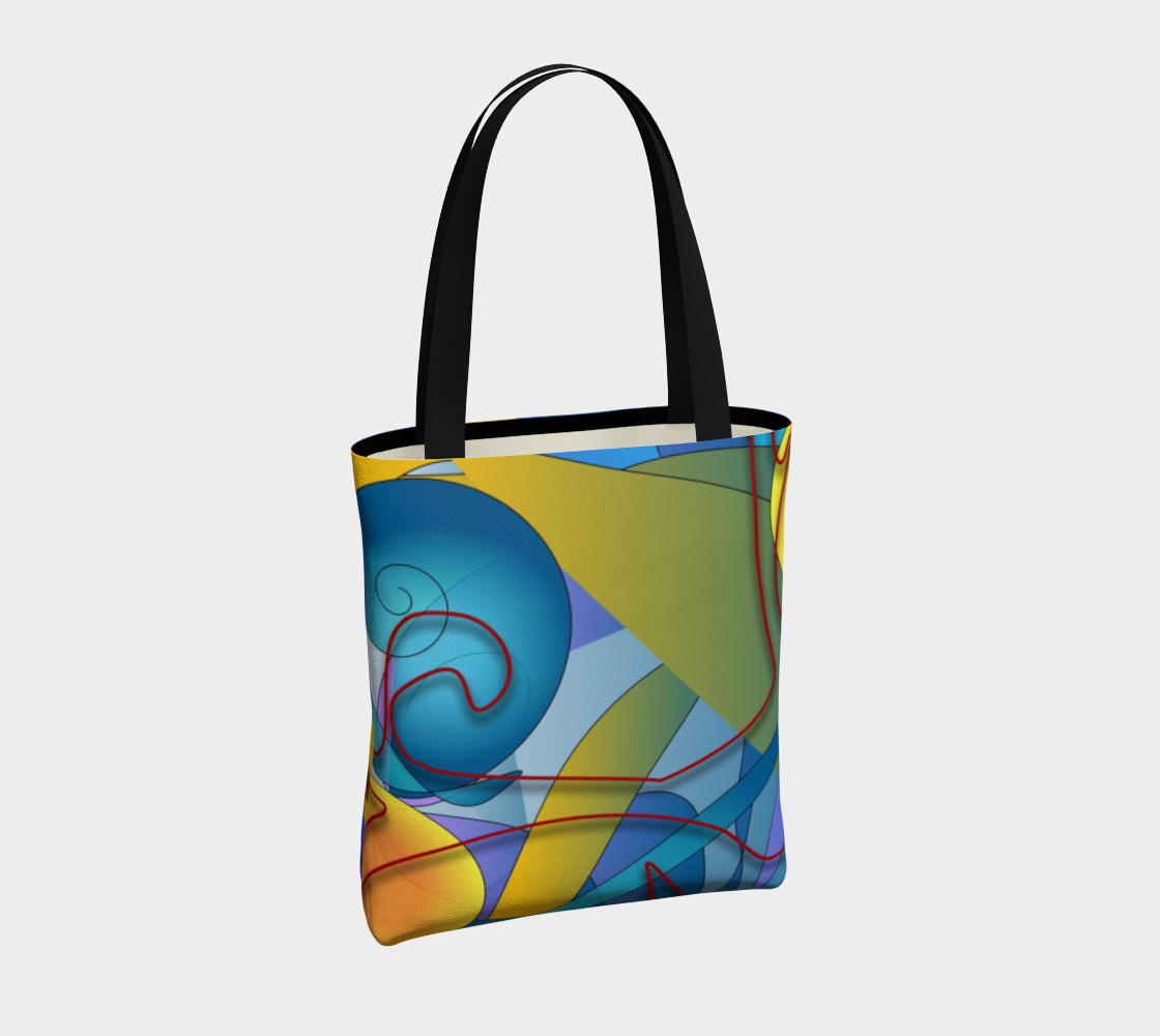 Geomety Collage Tote Bag
